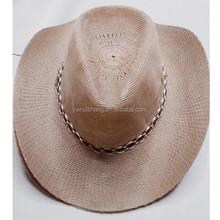 high quaity cowboy straw hat, new design cowboy straw hat(HT-1504020031)