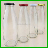 1000ml 500ml 250ml glass milk bottle with lug cap
