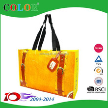Factory supply fabric shopping bag,woven bag ,laminated shop