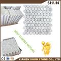 Bianco Carrara hexágono mosaico telhas