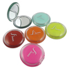 Colorful round pocket cosmetic mirror / high-end 10X mangifying compact mirror wholesale / dual sided hollywood mirror pocket