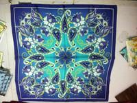Factory Direct Luxury Custom Digital Printed silk scarf / scarf silk scarf bound