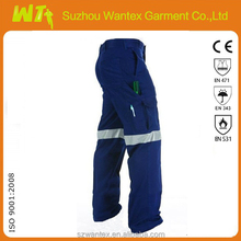 2015 newly cotton-polyester blue mens work trousers safety pants