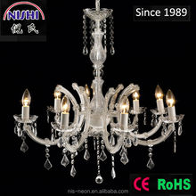 New American style lighting 8 light bulb crystal chandelier for wedding centrepieces (NS-120205)