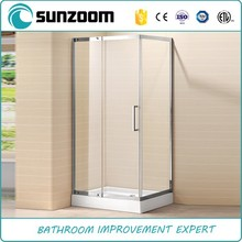Shower cubicle for small bathrooms glass shower cubicle stainless steel frame shower box