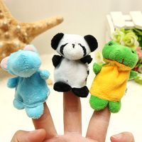 Hot sale new kids toy 10PCS Puppet Finger Dolls&Stuffed Toys Cartoon Gift story baby toys doll