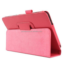Pink PU leather standing case cover for Samsung Galaxy Tab 4 T330