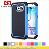 For Samsung Galaxy S6 Case 3 in 1 Ball Grain PC Silicone Hybrid Cover