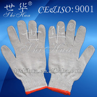 white cotton string knit electrical safety gloves