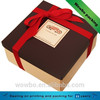 Square high quality paperboard decorated cake box with lid