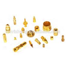de alta precisión torno torneado parte con el chapado en oro