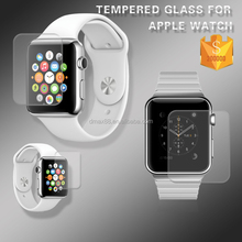 2015 New coming ! 9 H 0.26mm ultra thin high quality clear tempered glass screen protector 100% perfect fit for apple watch