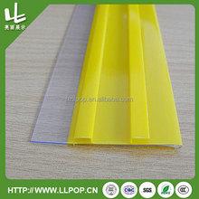PVC plastic shelf label holder