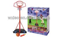 Kid basketball set with metal ring,portable basketball set