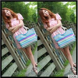 Wholesale art shoulder handbags factory Manufacturer Calico casual canvas tote bag
