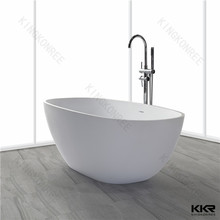 Antique style indoor small bathroom free standing sitting bathtub with two person