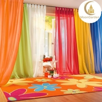 stock fashion design beautiful loops voile sheer crush curtain for living room