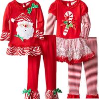2015 Kids Christmas Clothing Wholesale Kids Christmas Pajamas Clothing For Girls