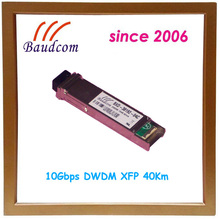 excellent wavelength stability 10Gbps DWDM XFP 40Km fiber optic transceiver