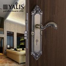 Antique Brass Panel C Shape Door Grip Dimple Construction Keys Door Knob Locks