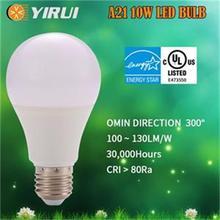 100~130lm/w E26/E27 AC 2700K 6000KAluminum Thermal plastic mixed body Dimmable led bulb