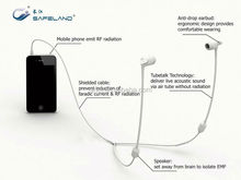 Chines telephone parts emit EMF & RF radiation hollow tube headset with mic & volume control