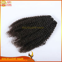 Hot! grade 7a virgin hair 100% Indian human hair weave natural color afro curly hair weaving
