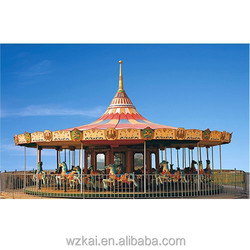 24 and 32 Seats Big Carousel with Illumination Lights Amusement Park Kids Kiddie Horse Rides