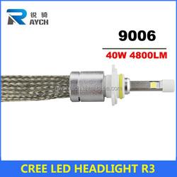 2014 Newly design Direct Plug & Play Canbus Error Free LED 4800LM Head Light Fog Lamp C REE XM L2,40W LED Headlight 9005 9006