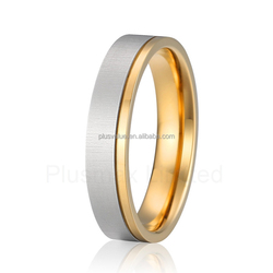 factory direct fashion 18k gold plated wedding rings women