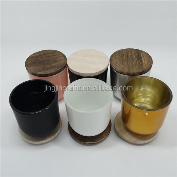 verre contenant de bougie bougie en verre r cipient avec couvercle avec couvercle de bambou. Black Bedroom Furniture Sets. Home Design Ideas