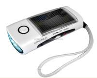 emergency light battery hot selling led solar dynamo radio flashlight