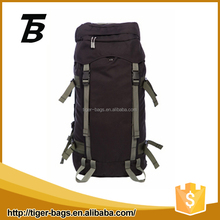 Waterproof camping new promotional hiking backpack travel with black nylon