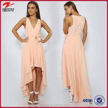 Strapless Cut Out Front Women new deaign long maxi Dress china products