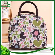 New design flower printed nylon fashion shopping bag