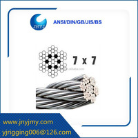 high quality galvanized 7x7 steel wire rope for crane