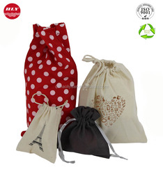 Custom all kinds of organic cotton gift bags wholesale with drawstring