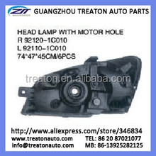HEAD LAMP WITH MOTOR HOLE 82120-1C010/92110-1C010 FOR GETZ 02 OK