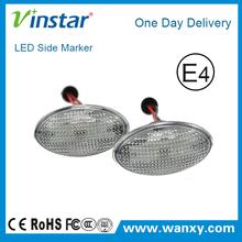 Clear Car LED Side Marker Lights Turn Signals Light for Mini R53 R50 R52