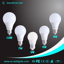 Low temperature competitive price led dome light bulb soft white