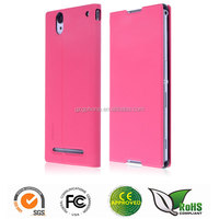 leather flip case for sony xperia t2 ultra thin leather case