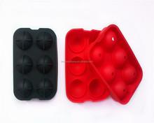 FDA/LFGB silicone round shape large ice cube tray