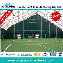 35m x 36m big TFS tennis curve tent for two tennis courts with aluminium structure in Guangzhou for sale