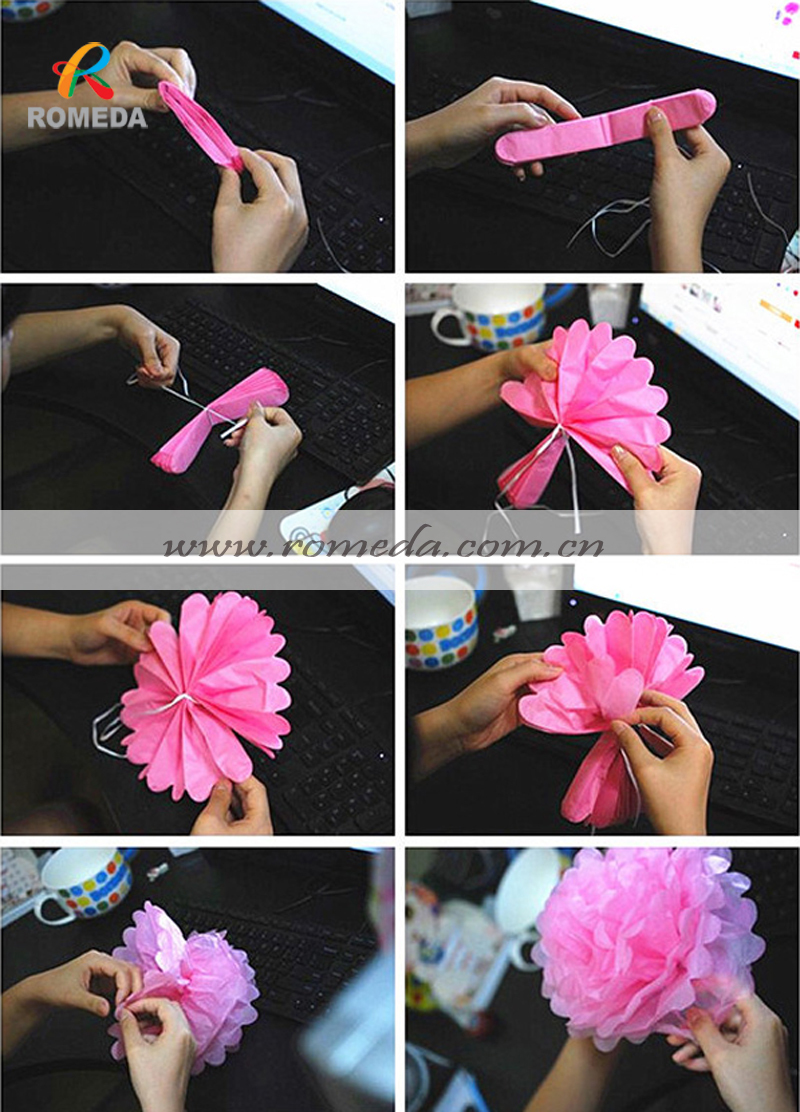 MOQ 50 PCS !!!Various colors &size!!! tissue paper pom poms !! FACTORY DIRECT SALE