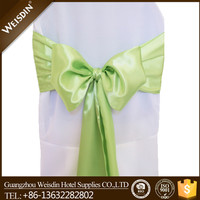 2015 best selling 100% polyester christmas teal satin chair sash for sale