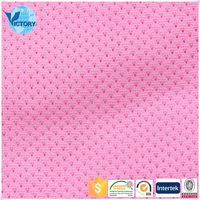 China Supplier 100 Polyester Weft Knitted Fluorescent Mesh Fabric For Hammock