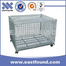 Storage Warehouse Wire Mesh Large Folding Container, Steel Bin Box
