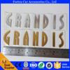 chrome ABS grandis 3D car emblem rear sticker badge for mitsubishi