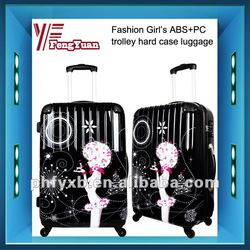 China alibaba 2014 dream girl trolley hard case luggage/abs pc film trolley luggage/ABS carry-on luggage