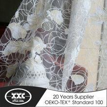 de alta calidad populares caliente de la venta de flores bordado escarpada de la cortina elegante para sala de estar